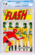Silver Age (1956-1969):Superhero, The Flash #105 (DC, 1959) CGC FN/VF 7.0 Off-white to white pages....