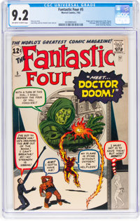 Fantastic Four #5 (Marvel, 1962) CGC NM- 9.2 Off-white to white pages