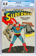 Golden Age (1938-1955):Superhero, Superman #26 Double Cover (DC, 1944) CGC VF 8.0 Off-white to white pages....