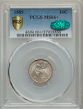 1885 10C MS66+ PCGS. CAC. PCGS Population: (26/21 and 5/2+). NGC Census: (42/14 and 0/1+). MS66. Mintage 2,532,497....(P...