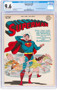 Superman #40 (DC, 1946) CGC NM+ 9.6 Off-white to white pages