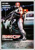"Movie Posters:Action, RoboCop (Orion, 1987). Rolled, Very Fine/Near Mint. Italian Foglio(27.5"" X 39.5""). Mike Bryan Artwork. Action.. ..."