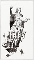 Original Comic Art:Illustrations, Mike Mignola Hellboy: Talking Board Box Cover Original Artand Complete Boxed Product (Dark Horse Deluxe, 2004)....
