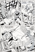 Original Comic Art:Panel Pages, John Romita Sr., Don Heck, and Mike Esposito (as Mickey Demeo) Amazing Spider-Man #63 Page 19 Original Art (Marvel...