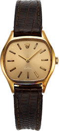 Timepieces:Wristwatch, Rolex, Ref. 3801 Lady's 18k Gold Cellini, Circa 1990's. ...
