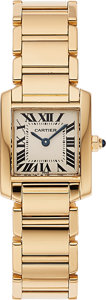 "Timepieces:Wristwatch, Cartier, Very Fine ""Tank Française"" Quartz, 18K Yellow Gold, Ref. 1820, Circa 2000's. ..."