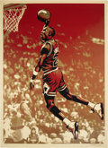 Basketball Collectibles:Others, 2009 Michael Jordan Serigraph by Artist Shepard Fairey - U...