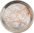 Baseball Collectibles:Others, 1953 New York Yankees World Series Champions Silver Presentation Tray. ...