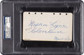 Autographs:Others, 1929 Napoleon Lajoie Signed & Notated Album Page, PSA/DNA NM-MT 8....