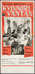 """Movie Posters:Foreign, Waiting Women (Svensk Filmindustri, 1952). Folded, Very Fine-. Swedish Insert (13"""" X 27.5""""). Foreign.. ..."""