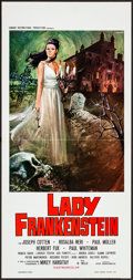 Movie Posters:Horror, Lady Frankenstein (Alexia Cinematografica, 1972). Folded, ...