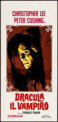 Movie Posters:Horror, Horror of Dracula (Gold Film, R-1970). Folded, Very Fine.