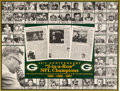 Football Collectibles:Photos, 1960's Green Bay Packers Greats Multi-Signed Oversized Print....
