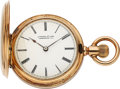 Timepieces:Pocket (pre 1900) , Patek Philippe & Co. 35 mm Gold Hunters Case, circa 1888. ...