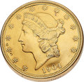 Timepieces:Pocket (post 1900), Twenty Dollar Liberty Gold Coin With Concealed Watch. ...