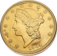 Twenty Dollar Liberty Gold Coin With Concealed Watch