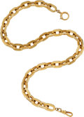 Timepieces:Watch Chains & Fobs, Heavy 18k Gold Watch Chain, 63.4 Grams. ...