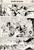 Original Comic Art:Panel Pages, Joe Kubert Brave and the Bold #42 Story Page 16 Hawkman and Hawkgirl Original Art (DC, 1962)....