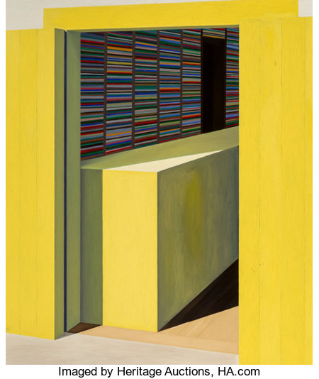 Emilio Sánchez (1921-1999) Yellow Store Oil on canvas 60-1/2 x 72 inches (153.7 x 182.9 cm) Initialed lower left: ...