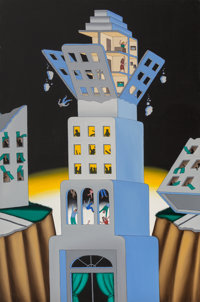 Roger Brown (1941-1997) The Big Jolt Oil on canvas 72-1/4 x 48 inches (183.5 x 121.9 cm)  P