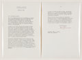 Autographs:U.S. Presidents, Harry Truman Typed Letter Signed...