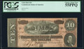 Confederate Notes:1864 Issues, T68 $10 1864 PF-42 Cr. 551 PCGS Choice About New 55PPQ.. ...