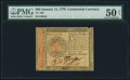 Colonial Notes:Continental Congress Issues, Continental Currency January 14, 1779 $80 PMG About Uncirculated 50 Net.. ...