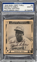 "Autographs:Sports Cards, 1948 Jackie Robinson Signed Swell Sport Thrills ""Dramatic Debut""Jackie Robinson #3, PSA/DNA Mint 9...."