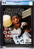 Basketball Collectibles:Publications, 2002 LeBron James First Sports Illustrated Magazine, CGC 9.8 Highest Graded. ...