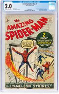 Silver Age (1956-1969):Superhero, The Amazing Spider-Man #1 (Marvel, 1963) CGC GD 2.0 Off-white to white pages....