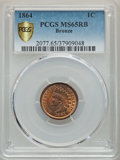 1864 1C Bronze No L MS65 Red and Brown PCGS Gold Shield. PCGS Population: (275/39). NGC Census: (236/74). CDN: $550 Whsl...