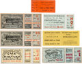 Football Collectibles:Others, 1895-1911 Ivy League Football Full Tickets Lot of 7....