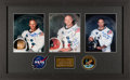 Explorers:Space Exploration, Apollo 11: Matching Individually-Signed Crew White Spacesuit Color Photos in a Stunning Framed Display, with Zarelli and Novas...