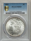1882 $1 MS65 PCGS Gold Shield. PCGS Population: (1854/441). NGC Census: (1261/227). CDN: $310 Whsle. Bid for problem-fre...