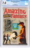 Silver Age (1956-1969):Science Fiction, Amazing Adult Fantasy #10 (Marvel, 1962) CGC FN/VF 7.0 Off...