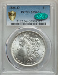 1885-O $1 MS66+ PCGS Gold Shield. CAC. PCGS Population: (2830/366). NGC Census: (4694/570). CDN: $200 Whsle. Bid for pro...