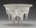 Glass, R. Lalique Frosted Glass Stalactites Plafonnier. Designed 1912-1914. Incised R. LALIQUE FRANCE. M. p. 670,...