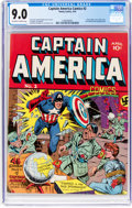 Golden Age (1938-1955):Superhero, Captain America Comics #2 (Timely, 1941) CGC VF/NM 9.0 Off-white towhite pages....