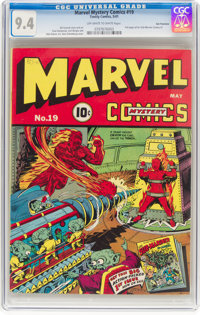 Marvel Mystery Comics #19 San Francisco Pedigree (Timely, 1941) CGC NM 9.4 Off-white to white pages