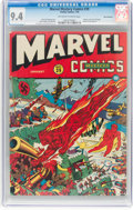 Golden Age (1938-1955):Superhero, Marvel Mystery Comics #39 San Francisco Pedigree (Timely, 1943) CGC NM 9.4 Off-white to white pages....