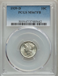 1939-D 10C MS67 Full Bands PCGS. PCGS Population: (634/100). NGC Census: (508/34). CDN: $140 Whsle. Bid for problem-free...
