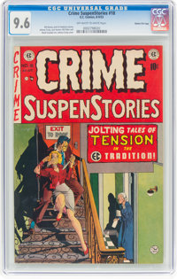 Crime SuspenStories #18 Gaines File Pedigree 6/12 (EC, 1953) CGC NM+ 9.6 Off-white to white pages