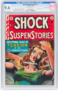 Shock SuspenStories #8 Gaines File Pedigree (EC, 1953) CGC NM+ 9.6 Off-white pages
