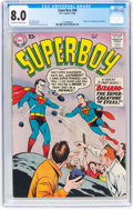 Silver Age (1956-1969):Superhero, Superboy #68 (DC, 1958) CGC VF 8.0 Off-white to white pages....