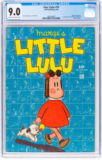 Four Color #74 Little Lulu (Dell, 1945) CGC VF/NM 9.0 Cream to off-white pages