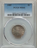1889 5C MS64 PCGS. PCGS Population: (278/152). NGC Census: (198/204). CDN: $275 Whsle. Bid for problem-free NGC/PCGS MS6...