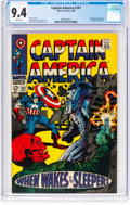 Silver Age (1956-1969):Superhero, Captain America #101 (Marvel, 1968) CGC NM 9.4 White pages....