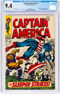 Silver Age (1956-1969):Superhero, Captain America #102 (Marvel, 1968) CGC NM 9.4 Off-white to whitepages....