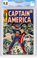 Silver Age (1956-1969):Superhero, Captain America #107 (Marvel, 1968) CGC VF/NM 9.0 Off-white to white pages....