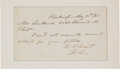 Autographs:U.S. Presidents, Ulysses S. Grant Note Signed ...
